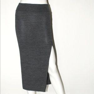 Midi Side Slit Skirt